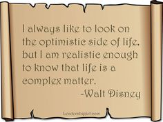 Disney sayings | Wald Disney quote on optimism