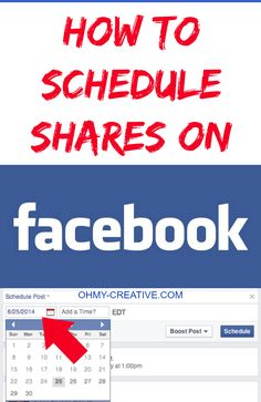 How To Schedule Shares On Facebook - Time saving business page tip by ohmy-creative.com. http://www.ohmy-creative.com/blogging-tips/schedule-shares-facebook/#_a5y_p=2072459