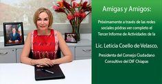 Brindará Leticia Coello el Tercer informe de actividades del DIF Chiapas