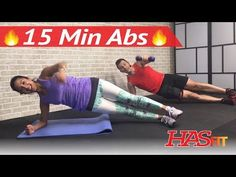 15 Minute Ab Workout - HIIT Abs Workout for Men & Women - 15 Min Abdominal…