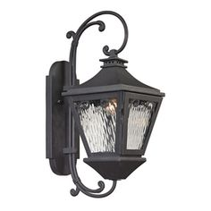 Westmore Lighting Morgan's Forge 20-in H Charcoal Outdoor Wall Light