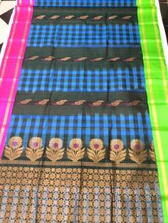 Blue & Brown Exclusive Handwoven Pure Silk Saree Silk Sarees on Shimply.com