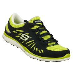 Skechers Gratis-Pure Street Shoes (Navy/Lime/Fuschia) - Women's Shoes - 6.5 M