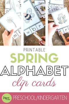 Spring Beginning Sounds Clip Cards - Inspire the Mom Spring Beginning Sounds Clip Cards! Alphabet Activities, Classroom Activities, Activities For Kids, Spring Activities, Teaching The Alphabet, Beginning Sounds, Letter Recognition, Business For Kids, Early Learning