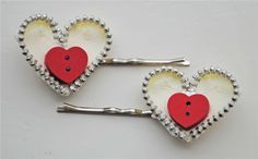 DIY Zipper Heart Crafts for Valentine #heart