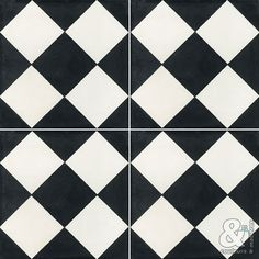 Carrelage sol et mur noir & blanc effet ciment Gatsby l.20 x L.20 ...