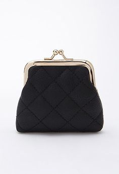 Quilted Faux Leather Coin Purse | Forever 21 - 1000172926