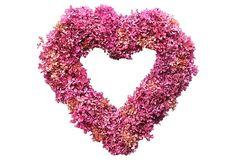 Hydrangea Heart Wreath, Pink on OneKingsLane.com