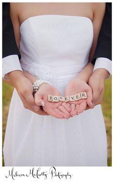 Fun wedding or baby pic idea!