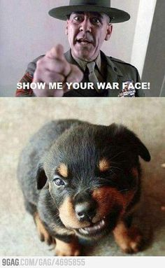 cutest war face ever!