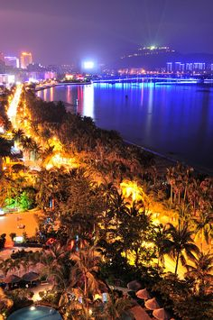 Sanya Bay, Hainan Island. When I was here in 1988, there was nothing but beach... Progress sucks...
