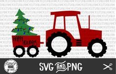 Check out this item in my Etsy shop https://www.etsy.com/listing/452038488/happy-holidays-tractor-trailer-with