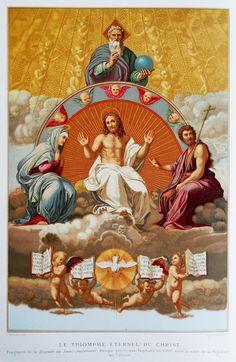 https://flic.kr/p/nmn3ga | Triomphe du Christ - Triumph of Christ | Nineteenth century chromolithograph. Chromolithographie de la fin du dix-neuvième siècle.