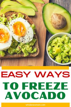Can you Freeze Avocados? Yes! Here are 4 Ways to Freeze Avocados so you can save loads of money when they're on sale!  We all know how quickly that avocado yo bought from the store goes bad - and how much money you waste. Don't let yourself throw money away. Keep your avocado by freezing it so you always have some you can use. Yummy Healthy Snacks, Healthy Meal Prep, Healthy Eating, Healthy Salads, Low Carb Side Dishes, Healthy Side Dishes, Side Dish Recipes, Paleo Recipes, Low Carb Recipes