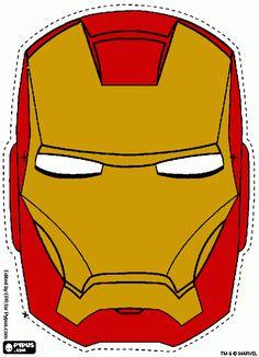 Colorir mascara do homen de ferro gratis!