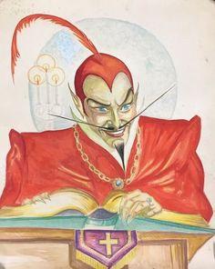 Vintage 1940's Devil Watercolor Painting C. Wilard George Occult Halloween Satan   Art, Paintings   eBay!