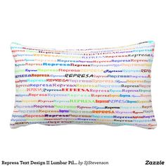 Represa Text Design II Lumbar Pillow