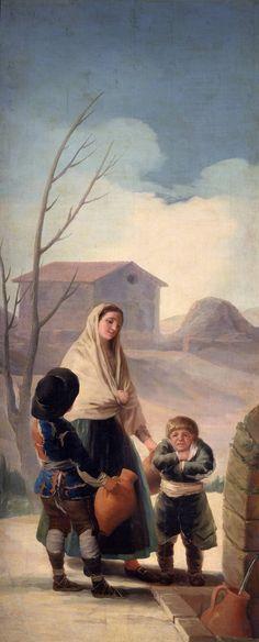 """Francisco de Goya en El Prado: Mujer con dos muchachos en la fuente (""""Los pobres en la fuente"""")"""