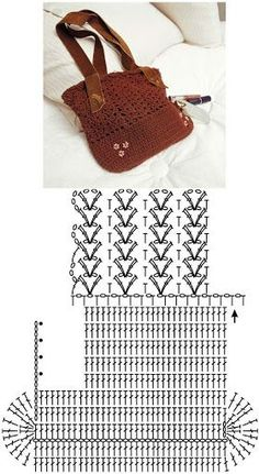 Diy Crafts - SewingBagsprojects,SewingBagsretro-crochet woven bag- bolsa tejida a crochet crochet woven bag -SewingBagsdenim SewingBagsprojects Diy Crochet Bag, Crochet Purse Patterns, Crochet Shell Stitch, Crochet Basket Pattern, Bag Patterns To Sew, Crochet Crafts, Sewing Patterns, Learn Crochet, Tunisian Crochet