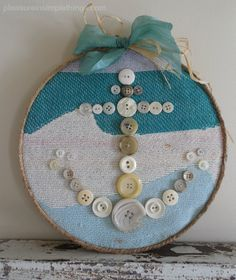 diy button anchor wall hanging — pleasure in simple things