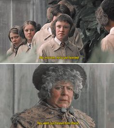 "Seamus: ""No ma'am, he's just fainted."" Professor Sprout: ""Yes, well, just leave him there."""