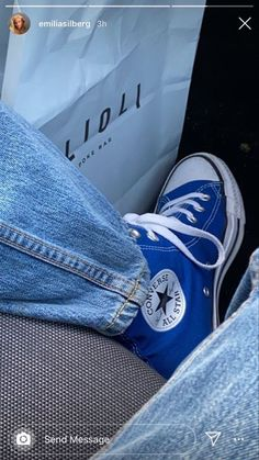 Dr Shoes, Swag Shoes, Hype Shoes, Me Too Shoes, Converse Bleu, Style Converse, Blue Converse Outfit, Colored Converse, Converse High