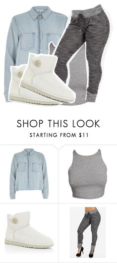 """TfAiW?? ?"" by fxshion-kxller ❤ liked on Polyvore featuring River Island, UGG Australia, women's clothing, women's fashion, women, female, woman, misses and juniors"