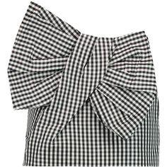 Marc by Marc Jacobs Bow-embellished gingham twill mini skirt ($235) ❤ liked on Polyvore featuring skirts, mini skirts, black, mini skirt, short skirts, gingham skirt, marc by marc jacobs and marc by marc jacobs skirt