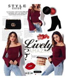 SheIn - Red by anchy03 on Polyvore featuring polyvore fashion style IRO Gucci tarte Concrete Minerals clothing