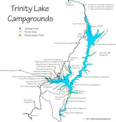 Map of Campgrounds at Trinity Lake