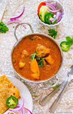Yogurt Chicken Curry - The chicken curry from Northern India which is must try for every Indian food lover. This flavorful curry has no sugars, no nuts, no creams but a simple and flavorful Indian...