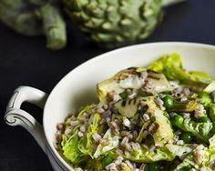 Artichoke and spelt salad recipe
