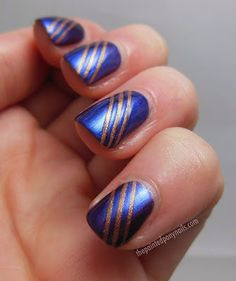 metallic stripes