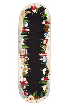 Free shipping and returns on New World Arts Christmas Village Table Runner at Nordstrom.com. An appliquéd and embroidered Christmas table runner featuring a cheery Santa village scene adds a charming, homespun feel to your holiday décor.