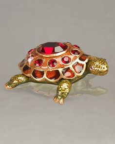 Turtle Birthstone Box by Jay Strongwater at Neiman Marcus.