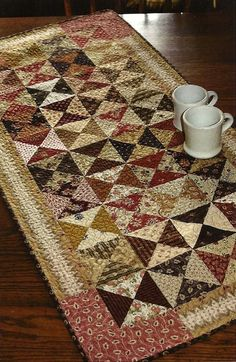 Folk Art Table Runner Pattern