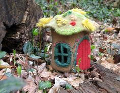 Ravelry: Gnome Home pattern by Katie Startzman - knitted and felted - $6.95
