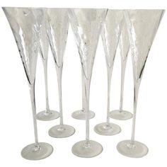 Champagne Flutes - 8 ($160) ❤ liked on Polyvore featuring home, kitchen & dining, drinkware and barware