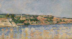 Village at the Water's Edge (Village au bord de l'eau) by Paul Cézanne, Barnes Foundation Medium: Oil on canvas Barnes Foundation (Philadelphia), Collection Gallery, Room 08, West Wall