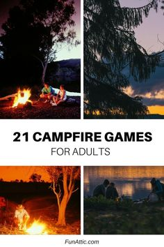 21 campfire games for adults that will turn any camping adventure into glamping!… 21 campfire games for adults that will Camping Ideas For Couples, Camping Hacks With Kids, Camping Bedarf, Winter Camping, Camping Checklist, Camping Essentials, Family Camping, Outdoor Camping, Camping Outdoors