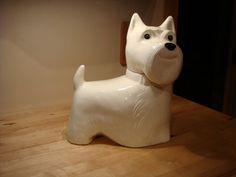 $100 - VINTAGE METLOX CALIFORNIA USA WHITE SCOTTIE DOG COOKIE JAR | eBay