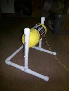 Yarn Holder Hacks Every Knitter Loves to Know - PVC Yarn Holder Source by wow. Yarn Holder Hacks Every Knitter Loves to Know – PVC Yarn Holder Source by wowthumbsup kni Pvc Pipe Crafts, Pvc Pipe Projects, Yarn Projects, Knitting Projects, Crochet Projects, Lathe Projects, Crochet Tools, Crochet Crafts, Crochet Yarn