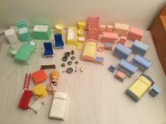 1940s Plastic Dolls House Furniture Set Made By Kleeware Of England |  Kleeware | Pinterest | Plastic Doll, Doll Houses And Toys Shop
