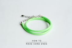 Fall For DIY How to Make Cord Ends