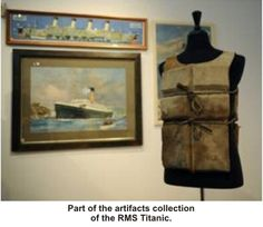 Life jacket from the Titanic.