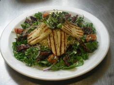 Large halloumi couscous and sundried tomato salad