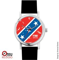 Mostrar detalhes para Relógio de pulso OTR BANDEIRA AMERICANA LOC 013