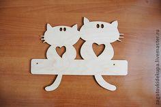 Арт.: 09130014 Вешалка Влюбленные кошки - вешалка,вешалка для кухни,Вешалка для полотенец