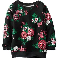 Carters Little Girls' Floral Boatneck Sweater (285 UYU) ❤ liked on Polyvore featuring baby