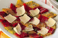 Mosaico di peperoni al grana